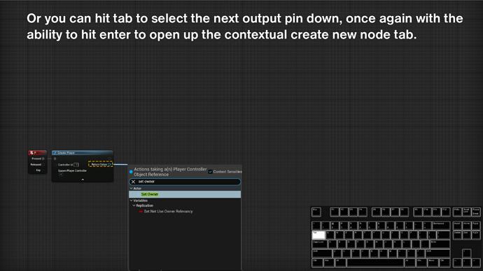 UE5 node shortcut2