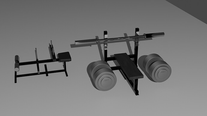 power Bench- seated calf- 100Kg dumbell