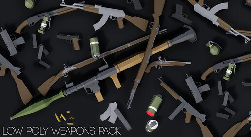 LowPolyWeaponsPack_featured