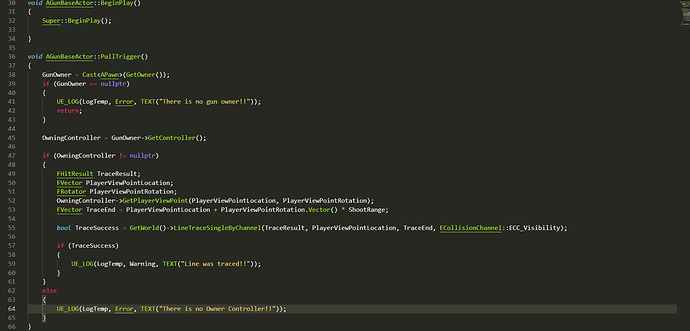 Gunweapon cpp snippet