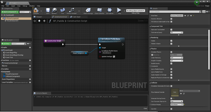 How to set collisions profile to blueprints class