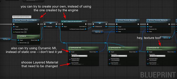 layered mat change parameters