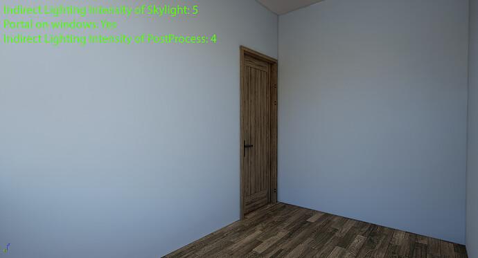 Indirect Lighting Intensity 5 & Portal Post 4
