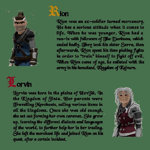 Rion & Lorvin Description (Kickstarter)