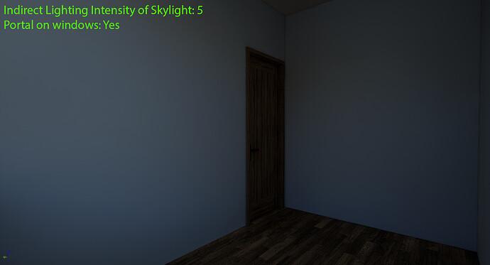 Indirect Lighting Intensity 5 & Portal