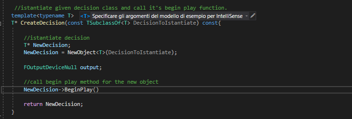 The template that it's calling the BeginPlay function