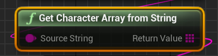 GetCharacterArrayFromString